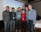 The Q Commons Dublin team – The Revd Rob Jones, Sam Moore, Paul Keegan, Orla Reynolds, Greg Fromholz (city leader) and Gerard Gallagher. Dublin joined the global Q Commons for the first time this year with the event taking place in Christ Church Cathedral.