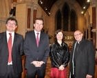 Dr Desmond Earley, Minister of State Aodhán Ó Ríordán, Anne–Marie O'Farrell and the Revd Norman McCausland at the launch of the Ardilaun Music Project in All Saints' Church, Raheny. (Photo: Leo George Devitt)