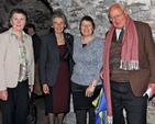 Helen Purser, Ruth Kinsella, Michael Purser and Lesley Rue preparing to enjoy the annual Friends of Christ Church lunch in the Crypt.
