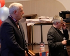 Ecumenical Bible Week co–chairs Dr Kieron O'Mahony and the Revd Ken Rue at Thinking Allowed in All Hallows College.