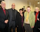Former Archbishop of Dublin John Neill, the Revd Stephen Neill, his wife Nicola and son Aaron, and Betty Neill at Stephen's institution as the new Rector of Celbridge, Straffan and Newcastle–Lyons.