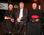 Archbishop Diarmuid Martin, the Revd Dr Michael Barry and Archdeacon Ricky Rountree at the event celebrating the 60th anniversary of the Irish Farmers' Association which took place in the National Convention Centre on January 6. (Photo courtesy of IFA)