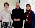 Lydia Monds (Bishops' Appeal), Archbishop Michael Jackson and Emma Lynch (Tearfund) at the Dublin and Glendalough training day on responding to global poverty.
