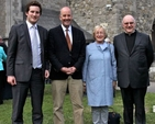Descendents of Sir William Sullivan, brother of Fr John Sullivan, Hector and Peter Lloyd with Sandy Clarke and Fr Conor Harper SJ. Fr John Sullivan SJ was baptised in the Church of Ireland, later became a Jesuit and has been elevated to a venerable by the Pope.
