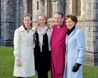 The new Bishop of Limerick, Killaloe and Ardfert, the Right Revd Kenneth Kearon with his wife, Jennifer and two of their daughters, Alison and Rachel, outside Christ Church Cathedral, Dublin, prior to the Service of Consecration on Saturday January 24. Their daughter Gillian was unable to be present.