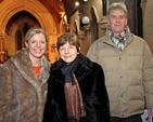 Miriam Leonard, Hazel Maxom and Arthur Maxom attending the concert in All Saint's Church, Raheny, which marked the launch of the Ardilaun Music Project.